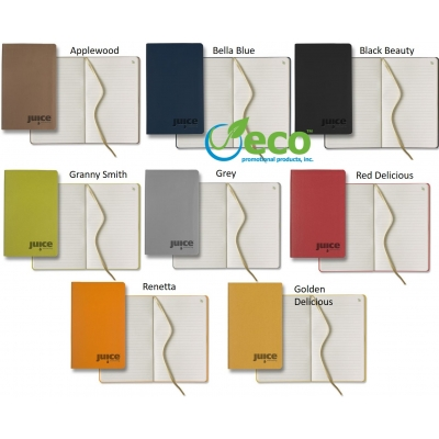 Custom Eco Apple peel recycled medium size journal colors