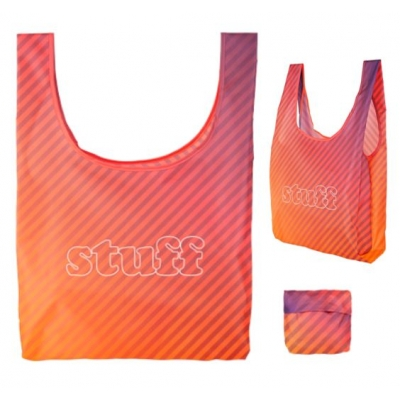 Foldaway Tote Bag Full Color Edge to Edge Printing Fully Custom Foldaway bag
