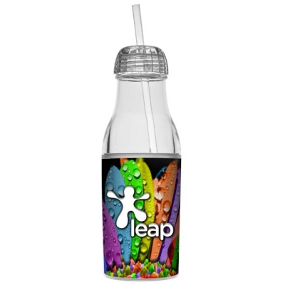Water Bottle with Straw | Full Color | 20 oz