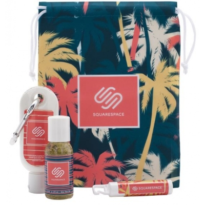 Fun in the Sun Summer Essentials Kit Summer Promotional Products Personalized Sunscreen