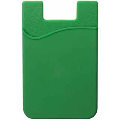 Green blue silicone phone wallet custom