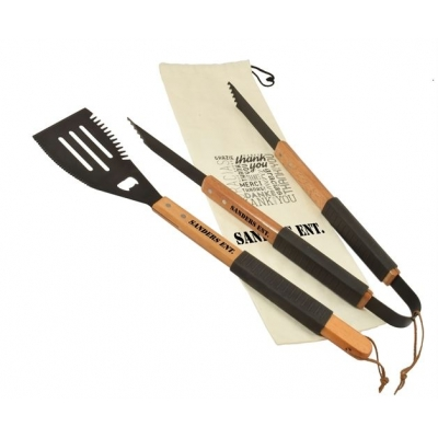 Grill Gift Set | Bamboo | Canvas Gift Bag