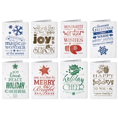 seed paper holiday cards vintage themed usa made eco