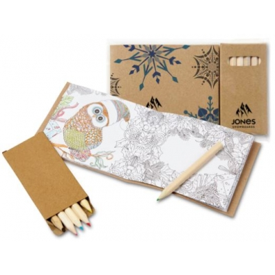 Holiday Themed Adult Coloring Book Set | Recycled | Eco Promotional ...