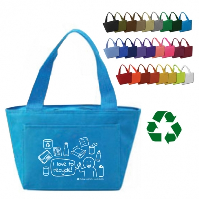 America Recycles   Recycled Insulated Lunch Bag   6-Pack Cooler