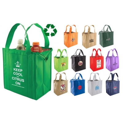 Recycled Insulated Grocery Bag Tote