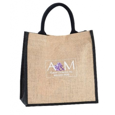 Jute Shopper Bag Custom Jute Shopping Bag
