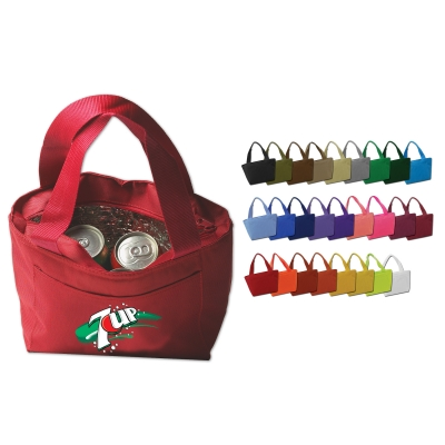 Recycled lunch bag with 6-pack cooler