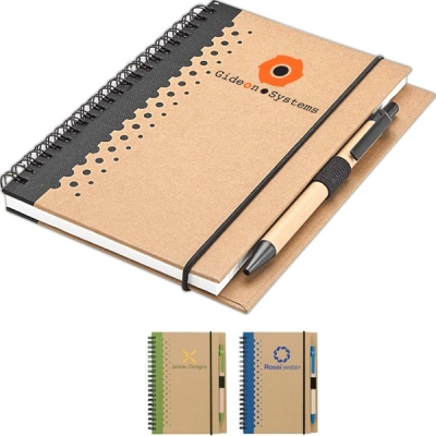 Personalized Notebook & Pen   Recycled   5x7