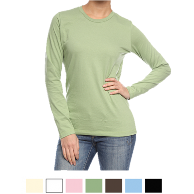 3b90e0fb8f Organic Cotton Long Sleeve Women's T-Shirt | USA Made | Eco ...