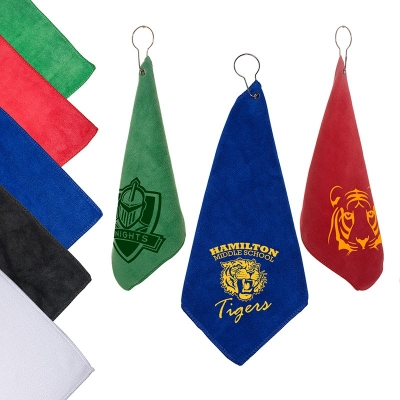 Custom Microfiber Golf Towel with Hook