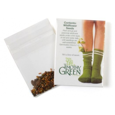 Mini Seed Packets USA Made Recycled Earth Day Giveaway  Earth Day Promotion Earth Day Swag