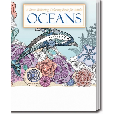 Adult Coloring Book | USA Made | Recyclable | Oceans Theme