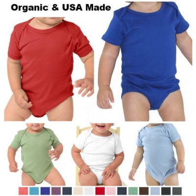 USA Made Certified Organic Cotton Infant Onesie