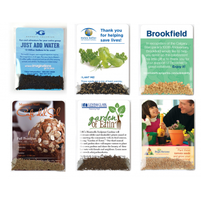 Personalized vegetable seed packets USA Made recycled eco friendly promo earth day promo