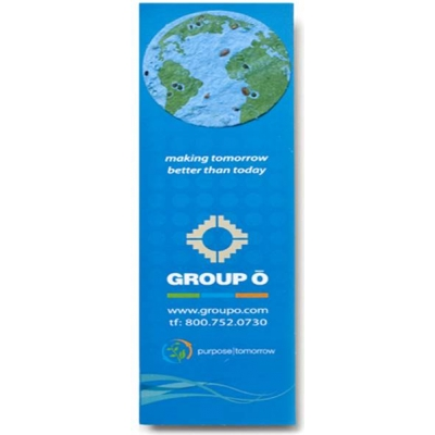 USA Made Bookmark With Seeded Plantable Shape - Premium