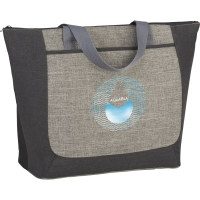 Recycled Zippered Tote | Two-Tone | 13x5x18