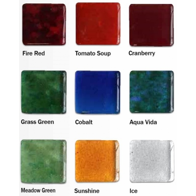 recycled glass award colors