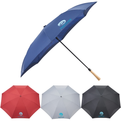 Recycled PET Auto Open Plaid Inversion Umbrella Recycled Umbrella Imprinted Umbrella