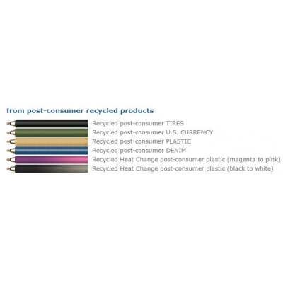 USA made Recycled pen colors