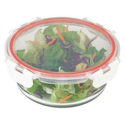 Round BPA free glass food storage container