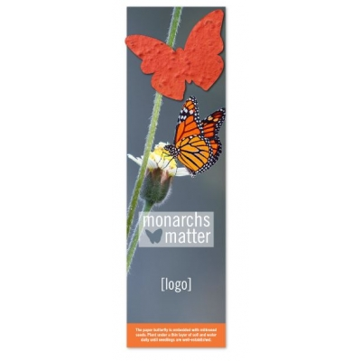 Save Monarchs USA Made Recycled Bookmark Earth Day Giveaway  Earth Day Promotion Earth Day Swag