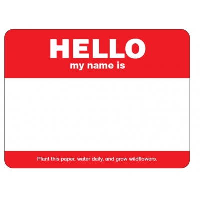 seed paper name badges recycled usa made eco promotional