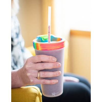 Travel Pint with Lid and Straw Multi Color, Multi Use Dishwasher Safe, Microwave Safe