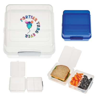 Split level lunch container Promotional Lunch boxes waste free lunch