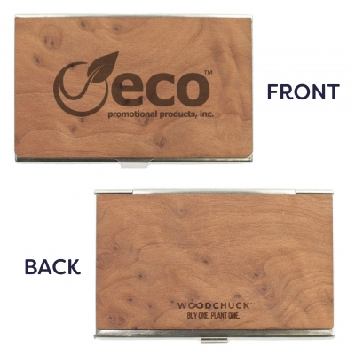 USA Made Wooden Business Card Holders