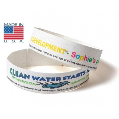 USA made seeded wristbands