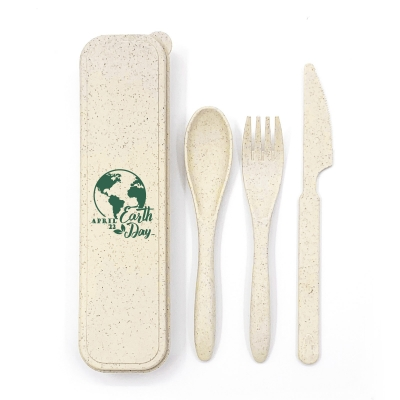 Wheat Straw Cutlery Set Biodegradable