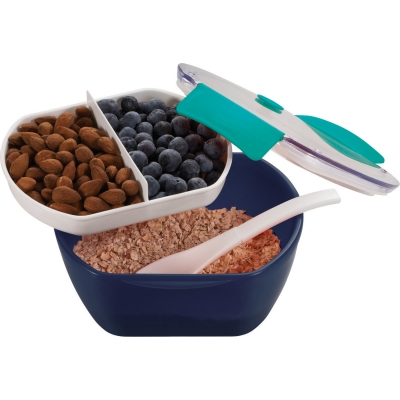 custom lunch container with spoon
