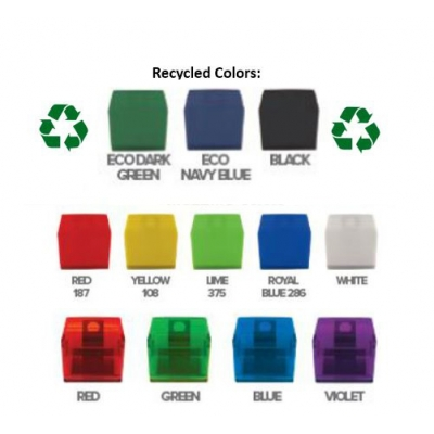 """2"""" USA Made Recycled Memo Clip with Magnet colors"""