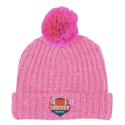 custom embroidered knit pom winter hat