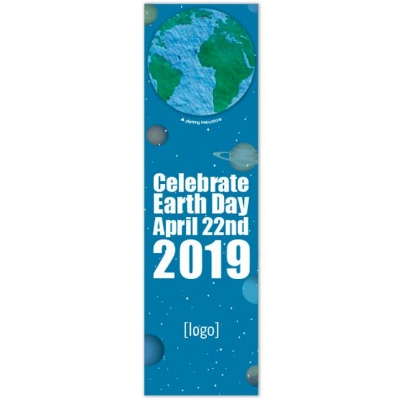 Earth Day 2019 special seeded shape bookmark