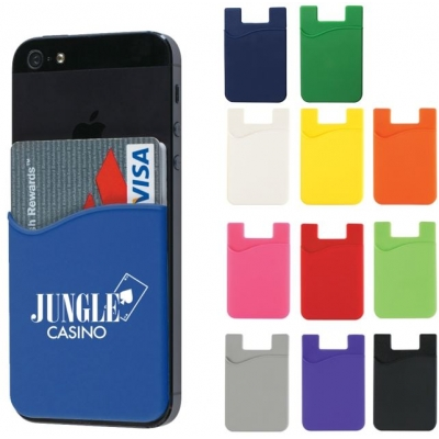 silicone reusable branded phone pocket wallet