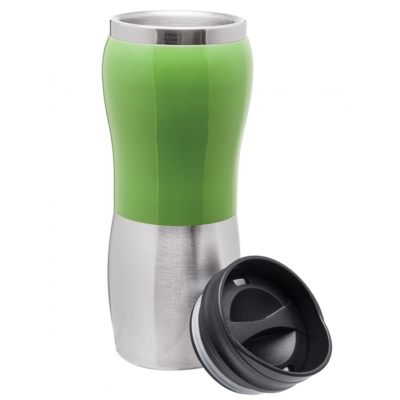 Custom insulated stainless steel tumbler with lid