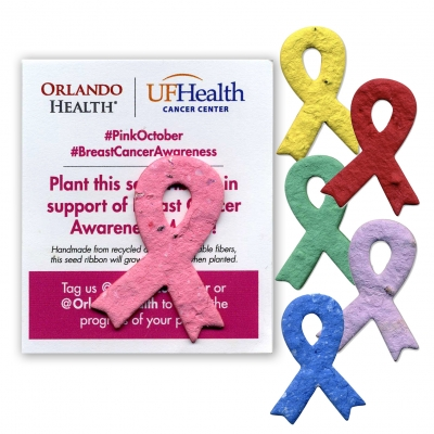 USA Made Seeded Paper Break Cancer Awareness Ribbon - Awareness Ribbons