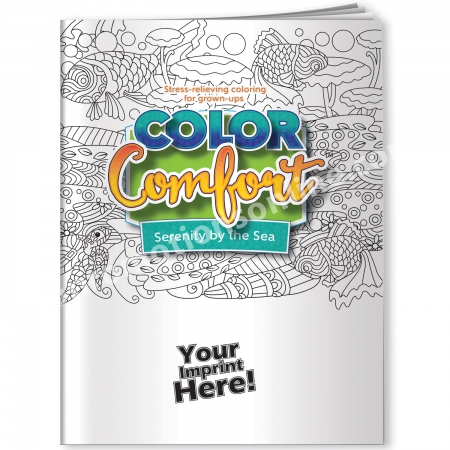 Adult Coloring Books USA Made Beach Theme Eco Promotional Products,  Environmentally And Socially Responsible Promotional Products