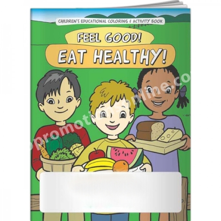 Custom Coloring Book USA Made Kids Nutrition Theme Eco Promotional  Products, Environmentally And Socially Responsible Promotional Products