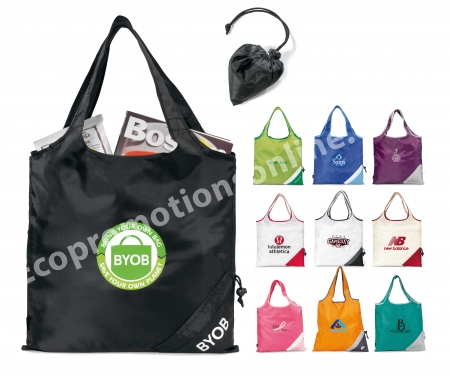 Foldaway Shopping Bags | Reusable. Foldaway Shopping Bags | Instructions. Custom Foldaway Shopping Bag Folded