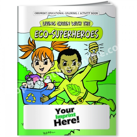 personalized coloring books eco superheroes eco promotional