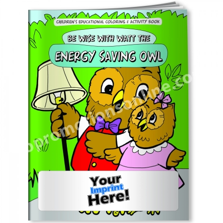 Personalized Coloring Books | Saving Energy | Eco Promotional ...