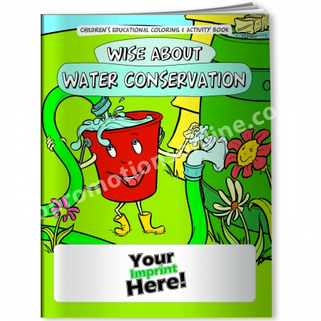 Personalized Coloring Books Water Conservation Eco Promotional  Products, Environmentally And Socially Responsible Promotional Products