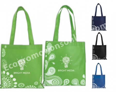 Personalized Patterned Tote Bag Eco Friendly Bags Tradeshow Custom Printed