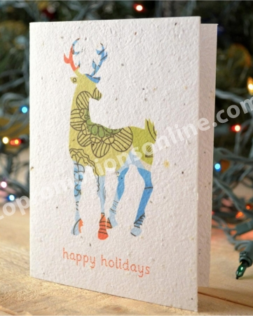 10 cards Decorations design Plantable Christmas Cards Turns into wildflowers