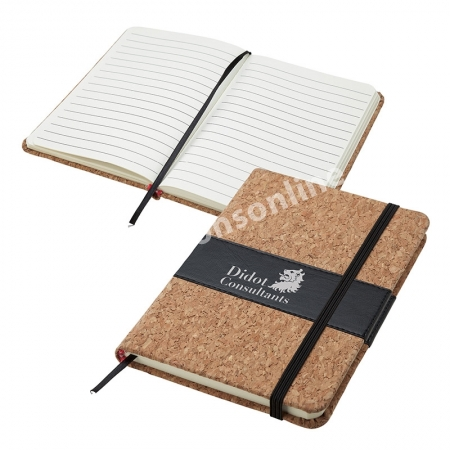 Personalized Journals Cork 4x6 5x8 Eco Promotional Products
