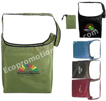 Recycled Pet Sling Foldaway Bag Promotional